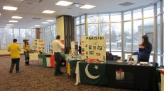 Some of the country tables that SPEA students and other campus organizations hosted at Global Fest
