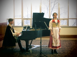 1st year MAAA students Alex and Carey performing a series of Polish songs