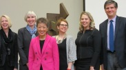 All the symposium speakers plus Dr. Rushton. From left to right: Joan Squires, Karen Gahl-Mills, Jane Chu, Jennifer Cole, Laura Zabel, Dr. Rushton