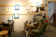 Another view of Patricia's studio.