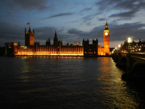Britain's Houses of Parliament are beautifully lit at night