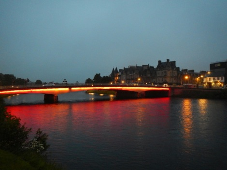 Inverness, a small city in Scotland's Highlands