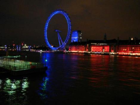 The London Eye from the north side of the Thames, when I was in London last summer