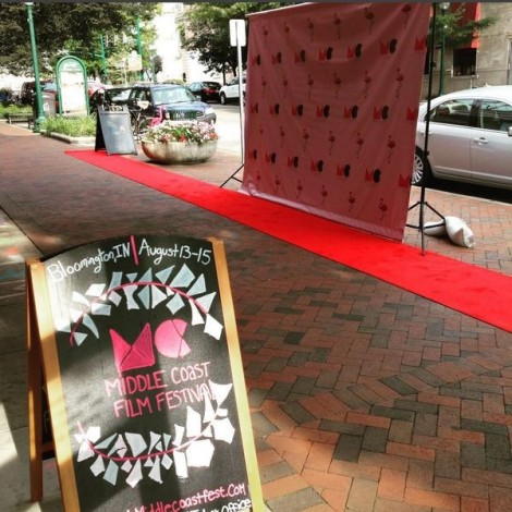 Outside the Buskirk-Chumley during the Middle Coast Film Festival on August 13-15, 2015