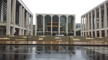 Lincoln Center, from left: New York City Ballet, Metropolitan Opera, New York Philharmonic