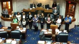 Many of the POWER Caucus scholarship recipients being recognized on the Senate floor